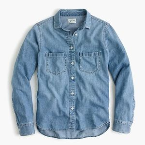 J. Crew Everyday Chambray Shirt, Petite 12